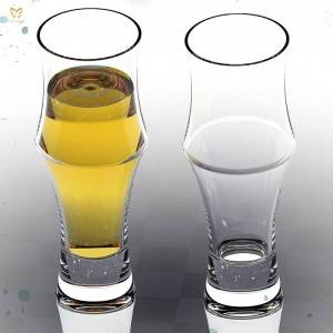 Factory wholesale Personalized Beer Glasses - 400ml Bamboo Shaped Beer Glass – Chengfeng