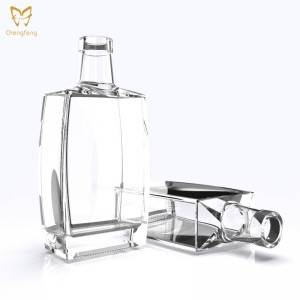 750ml Custom Whiskey Glass Bottle