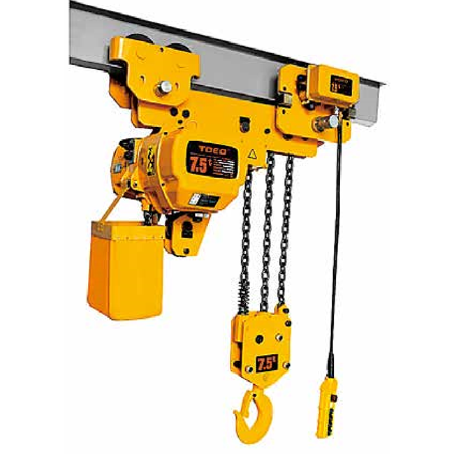 2019 New Style 5 Ton Electric Chain Hoist With Trolley - Single Speed type 7.5t -Electric trolley running type – CHENLI