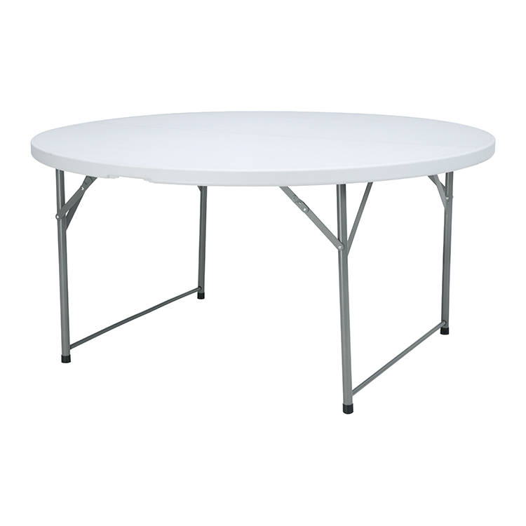 China Wholesale Round Portable Table Quotes - 5ftWedding Banquet Folding in half Round event  table,8 people round folding table – JIANYE