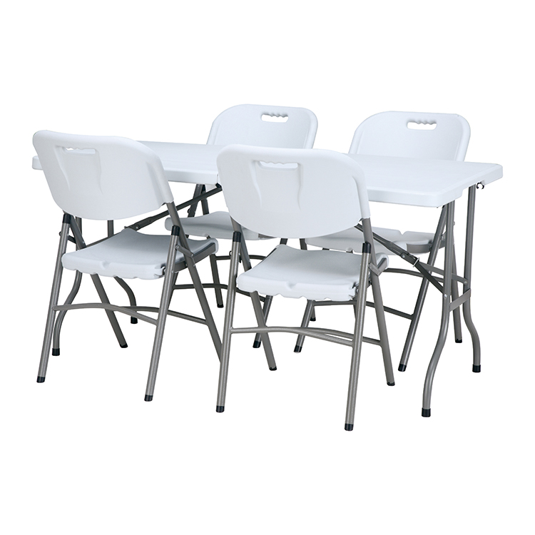China Wholesale Folding Table With Chair Storage Suppliers - furniture mounted foldable  rectangular dining table set with chair folding table with folding chairs – JIANYE