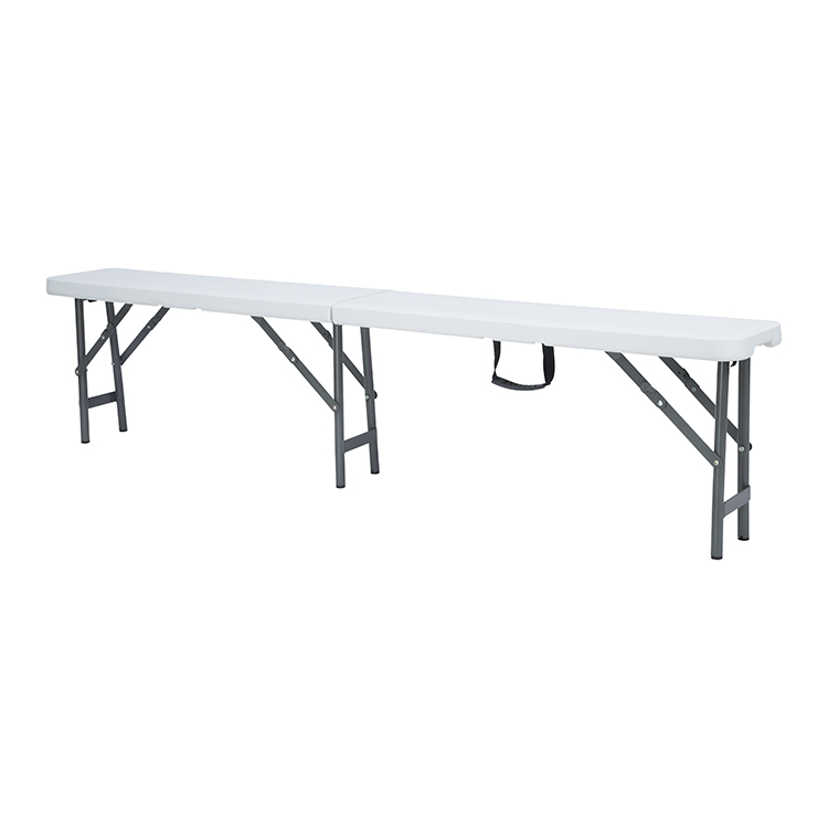 China Wholesale Folding Table Bench Set Suppliers - outdoor indoor blow molding portable white folding Chinese factory 6Ft plastic adjustable cheap garden bench for picnic party – JIANYE