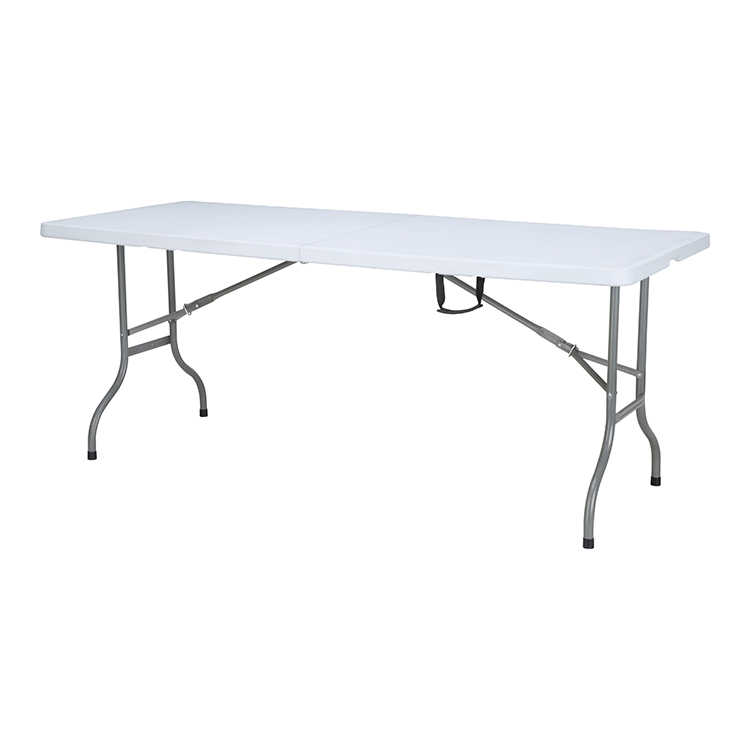 China Wholesale Folding Snack Table Factories - custom cheap round rectangle fold 6ft event white banquet wine table folding for restaurant – JIANYE