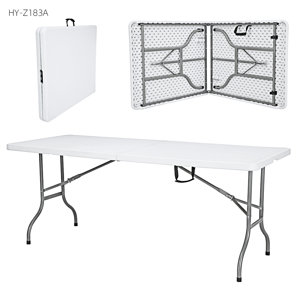 China Wholesale Folding Table Suppliers - 6ft popular fold in half long table for meeting – JIANYE