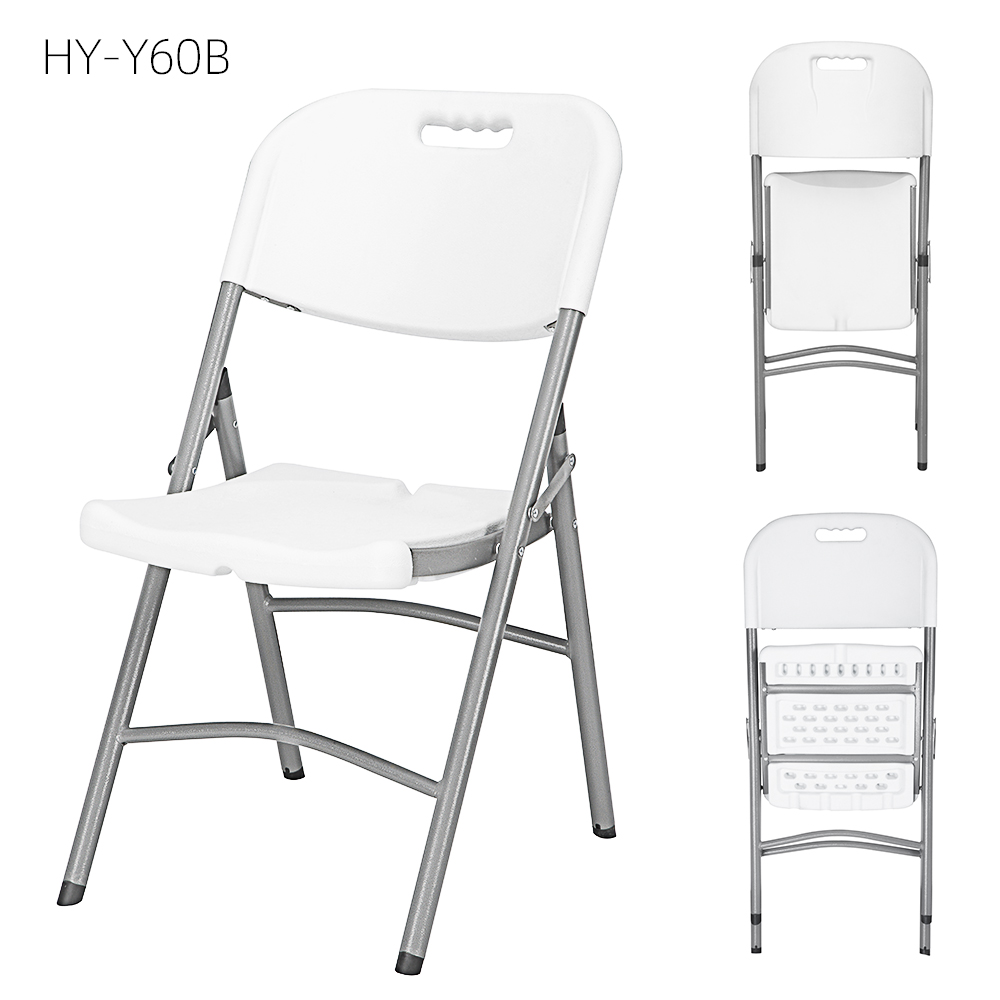 China Wholesale Foldable Plastic Table And Chairs Products - foldable wedding chair garden banquet wedding rental HDPE plastic hot sales study  Best selling cheap metal folding chairs – JIANYE