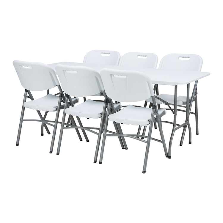 China Wholesale Comfortable Folding Chairs Factory - custom outdoor 6ft meeting room modern mini plastic folding table and chair sets – JIANYE