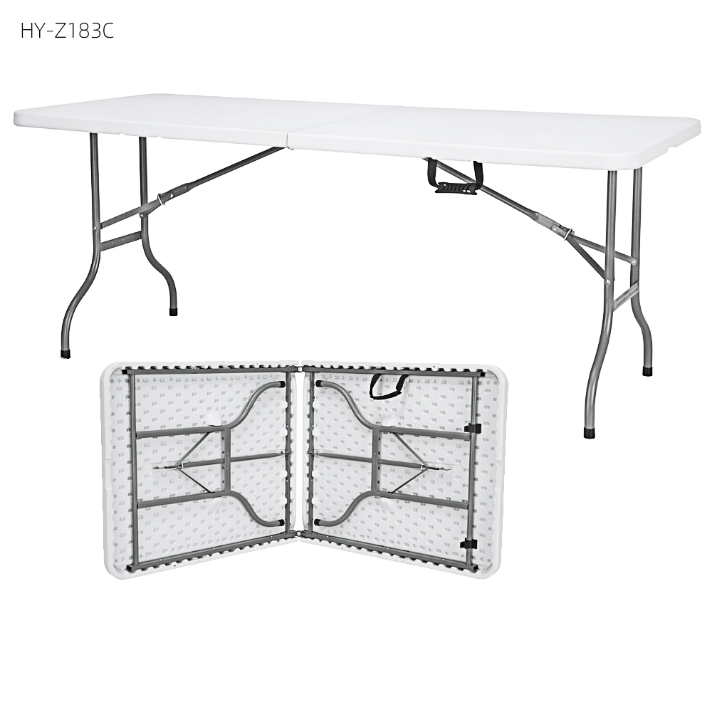 China Wholesale 4 Foot Folding Table Manufacturers - custom 6ft plastic high end portable small multi-purpose folding travel dining camp table – JIANYE