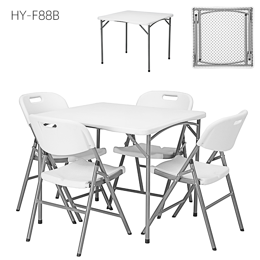 outdoor and indoor HDPE plastic folding foldable square table