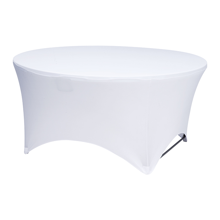 popular spandex custom retractable turntable dust cover  party wedding table cloth dining table cover