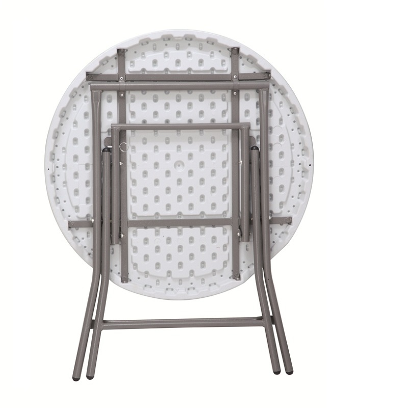 China Wholesale Half Round Folding Table Factories - cheap outdoor and indoor blow molding white plastic round tea table – JIANYE
