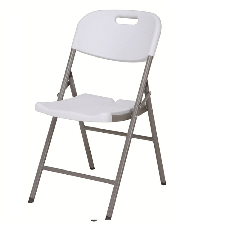 white plastic folding catering chair for outdoor