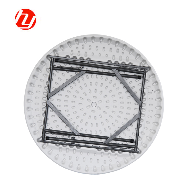 China Wholesale Round Folding Table With Umbrella Hole Manufacturers - Plastic Outdoor Folding Round Table Garden Table – JIANYE