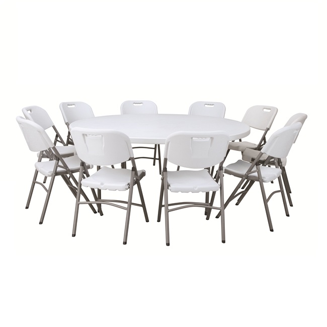 China Wholesale Plastic Folding Round Table Set Factory - YES FOLD TABLE HY-R180 – JIANYE