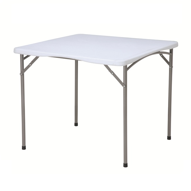 2019 new product hot-sale plastic folding white square table