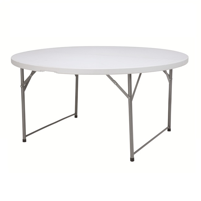 China Wholesale Round Folding Table And Chairs Set Quotes - 5 feet folding outdoor and indoor round table for dinner – JIANYE