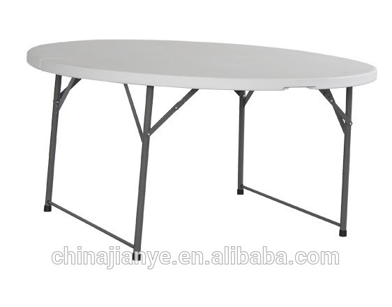 China Wholesale Round Card Table And Chairs Factory - 5ft round half folding table, 8 people round folding table – JIANYE