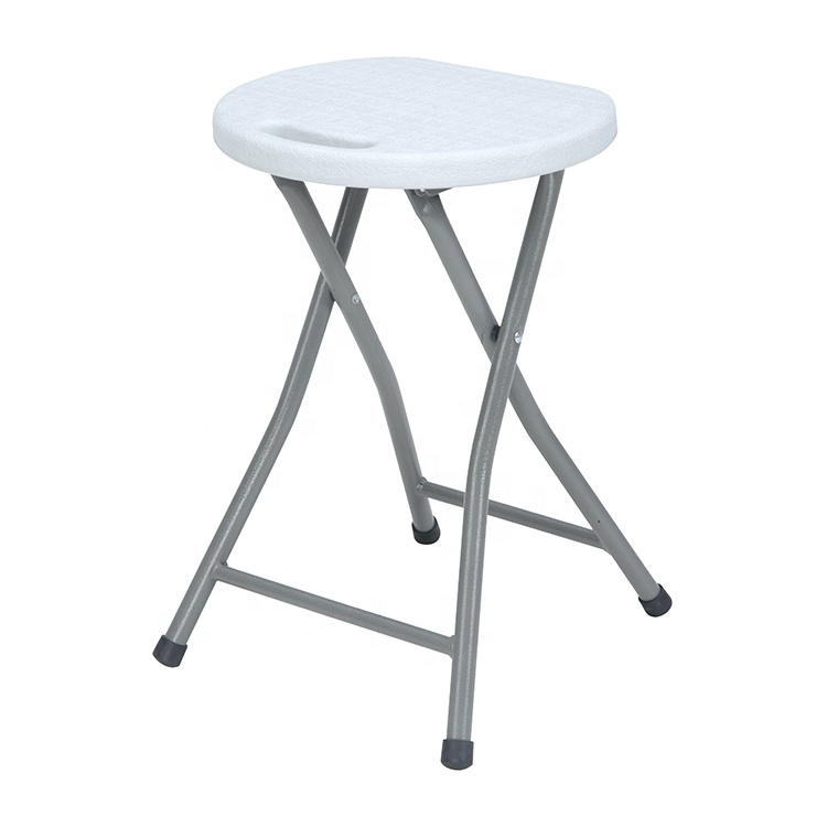 Cheap Portable Dia.31cm Travel Small Mini Lightweight Plastic Folding Stool for Camping Picnic Garden