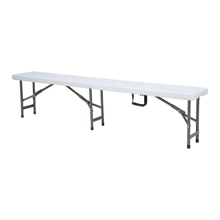 China Wholesale Bench Suppliers - Wholesale Portable retractable 183cm 4 seats foldable hdpe outdoor plastic sturdy bench simple folding picnic camping chair – JIANYE