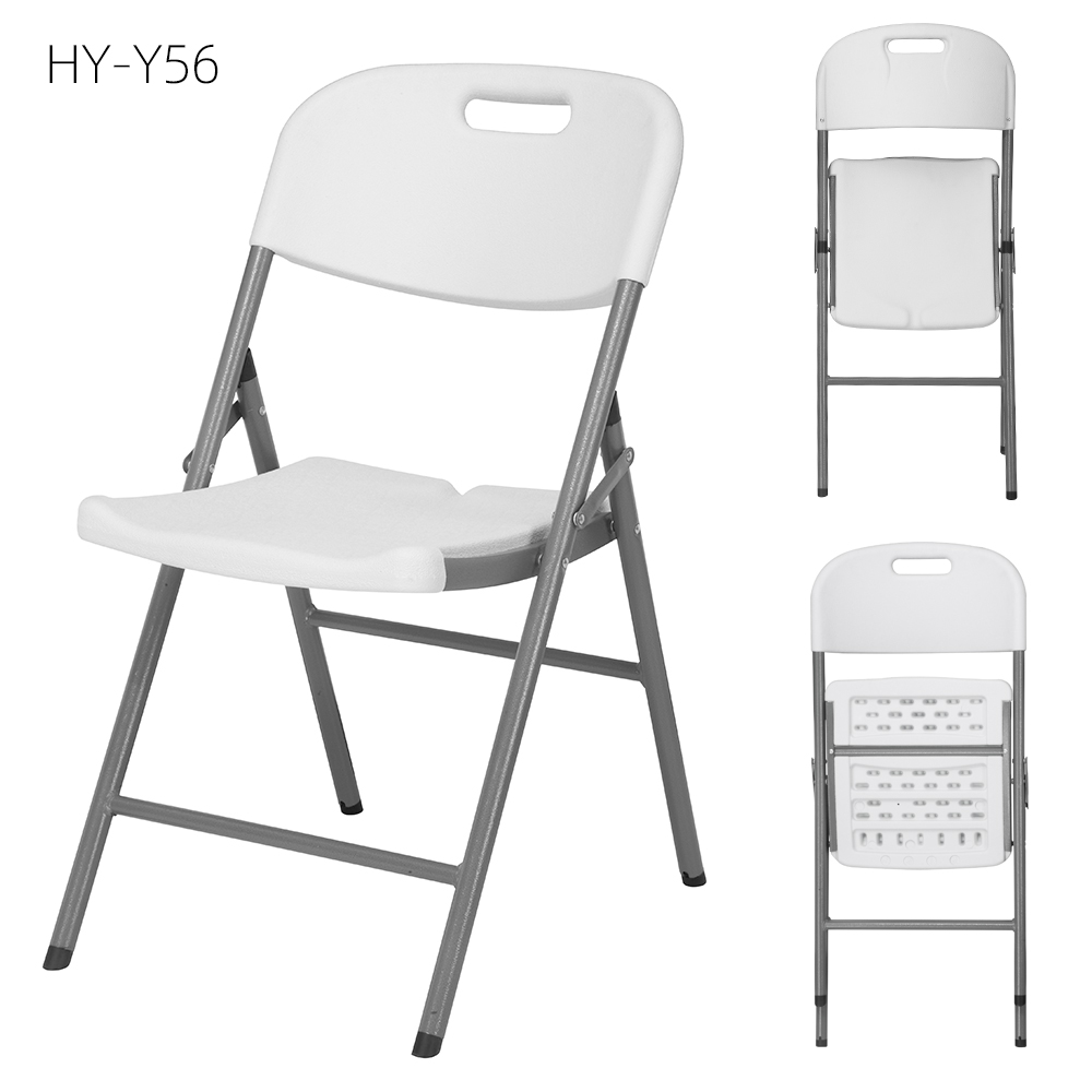 Folding stool - lightweight folding garden chairs restaurant picnic camping Cheap Outdoor Garden Event plastic folding chairs with metal frame – JIANYE
