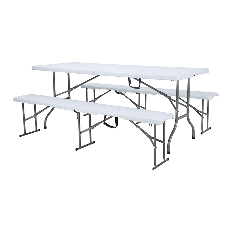 China Wholesale Folding Buffet Table Products - custom outdoor portable 6ft meeting room plastic camping chair folding cocktail table for kid – JIANYE