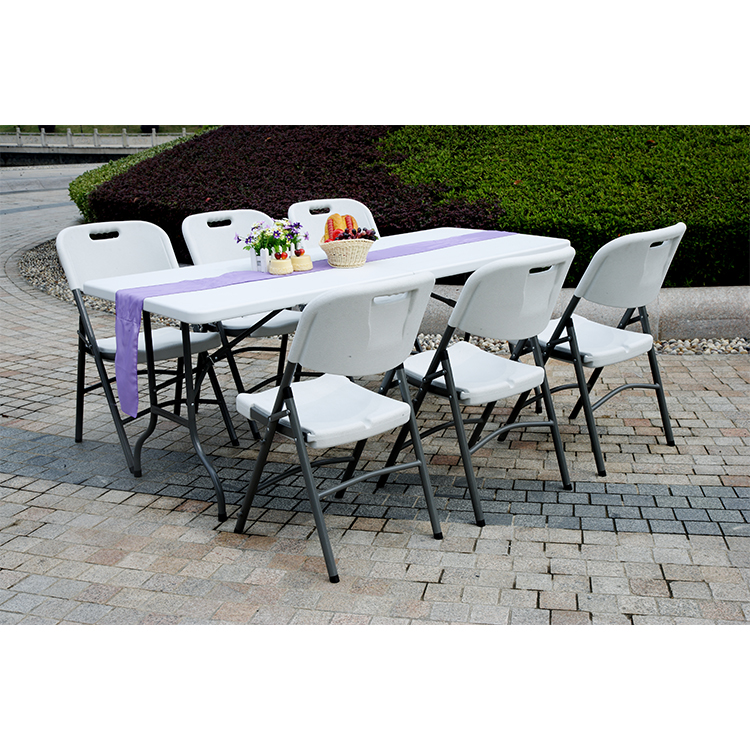 China Wholesale Folding Outdoor Dining Table Factories - custom plastic outdoor adjustable height 6ft portable coffee folding study table – JIANYE detail pictures