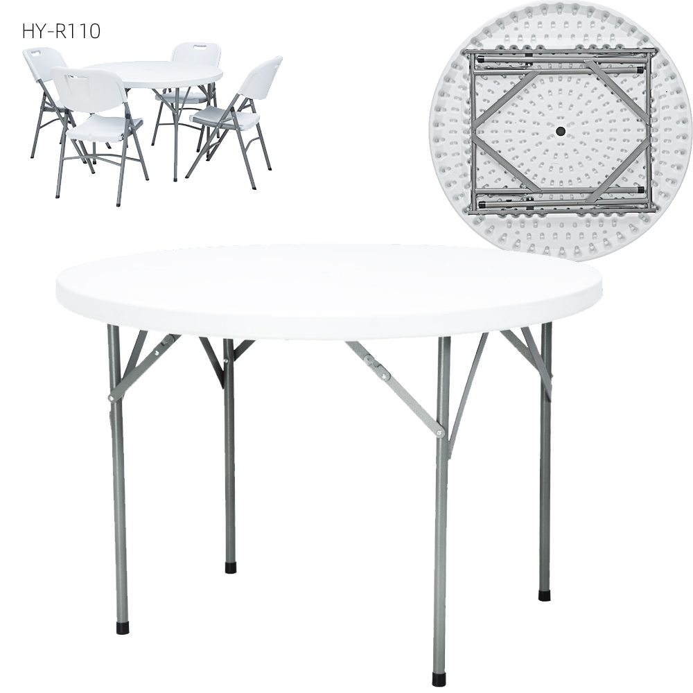 China Wholesale Round Table & Chair Set Manufacturers – Plastic Folding Round Promotion Table – JIANYE