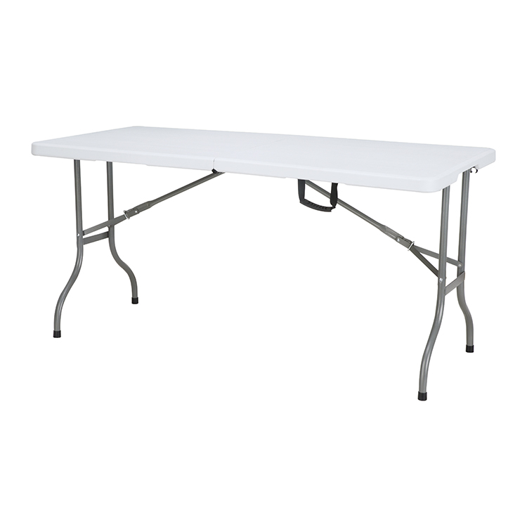 China Wholesale Sturdy Folding Table Factory - wholesale outdoor multifunction office 5ft white study folding in half tables with chairs – JIANYE