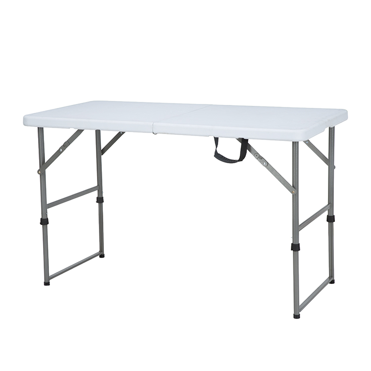 China Wholesale Plastic folding table Products - Wholesale Portable white plastic picnic  outdoor 4ft  Working  Foldable Tables Plastic Folding Tables and Chairs for events – JIANYE