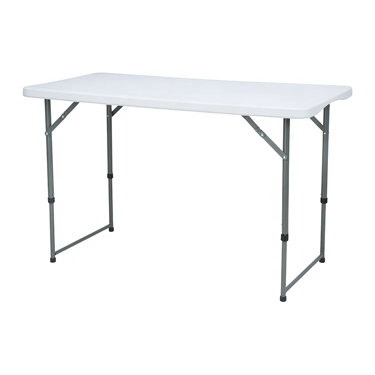 Wholesale outdoor hdpe 4ft dining square rectangle China plastic fold up folding tables for camp picnic