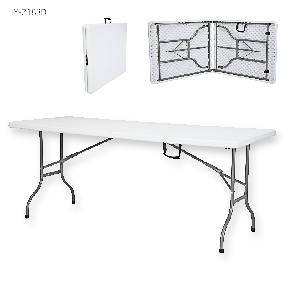 China Wholesale Folding Bench Table Plans Products - 6 chairs set foldable party folding portable outdoor garden picnic chairs plastic metal steel folding tables for events – JIANYE