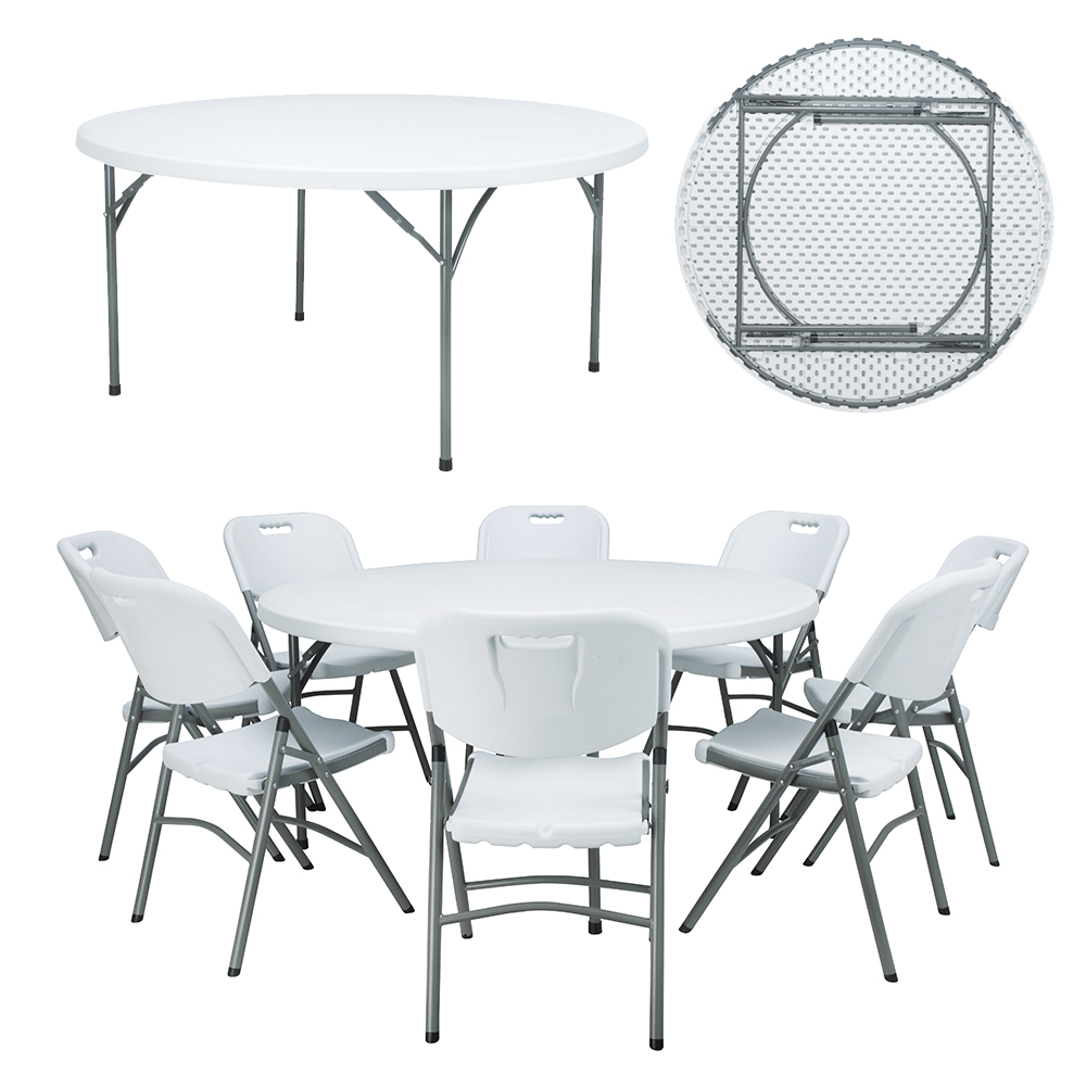China Wholesale Small Round Folding Dining Table Manufacturers - round table plastic event 5ft round plastic folding table round table 10 seater – JIANYE