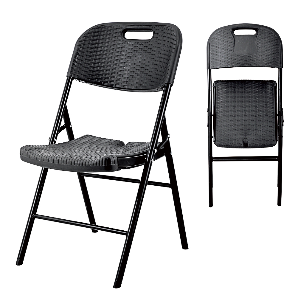 China Wholesale Rattan chair Products - black outdoor adjustable folding  beach rattan wicker dining chairs furniture for health metal rattan chair rattan metal chairs – JIANYE