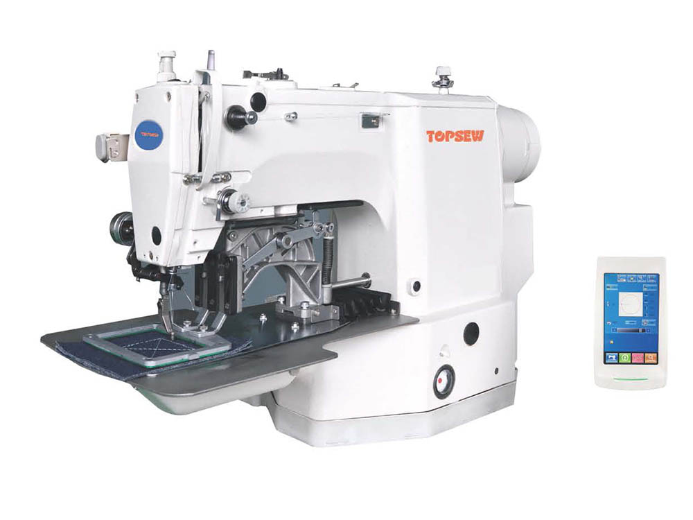 Computer Controlled Bartacking Pattern Sewing Machine with sewing area 6*6cm TS-436 Featured Image