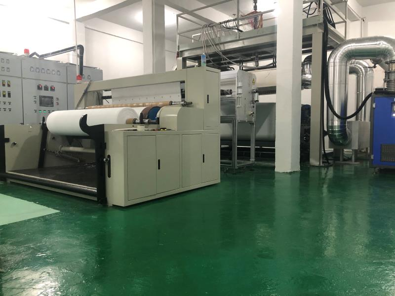 Non-woven fabric and melt blown fabric production
