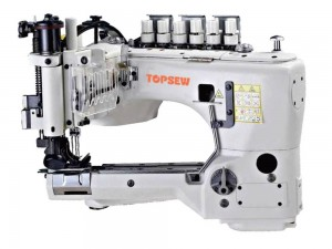 Professional Design Automatic Coverstitch Bottom Hemmer - High speed feed off-the arm Chainstitch machine TS-35800 – TOPSEW