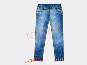 Hemming Machine On Trouser Bottoms And Sleeves TS-63922-D4