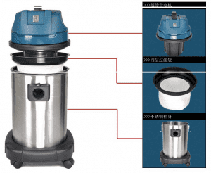 Commercial Ultra Quiet Absorb Water And Dust Vacuum Cleaner