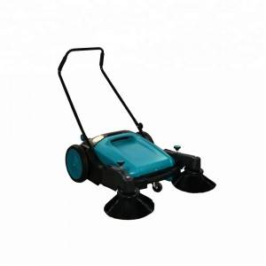Hand Push Walk Behind Floor Sweeper Cleaning Machine