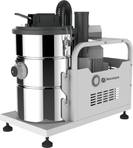 Three phase stationary type industrial vacuum cleaner