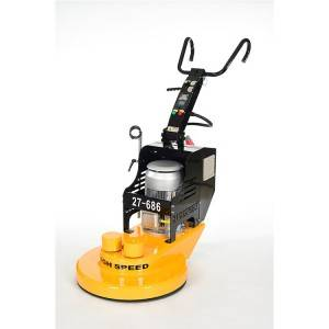 High speeding polisher of floor system