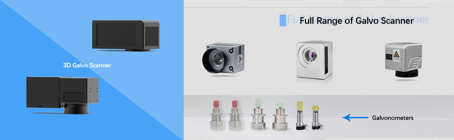 2D and 3D laser galvo scanner head with high quality and reliability from China.