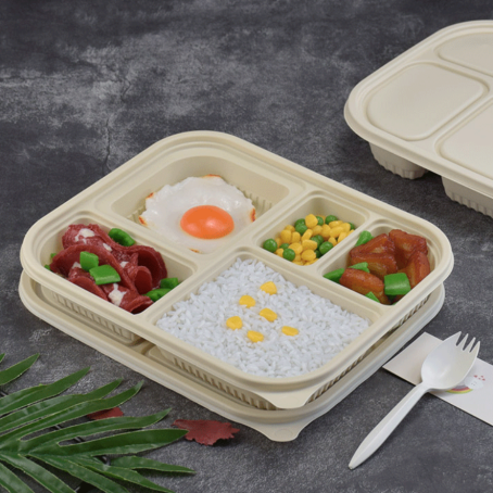 High Quality for Biodegradable Takeaway Containers -  Disposable Biodegradable Corn Starch Food Containers – CHUNKAI Featured Image