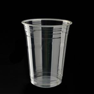 Transparent Biodegradable PLA Cup with Lid