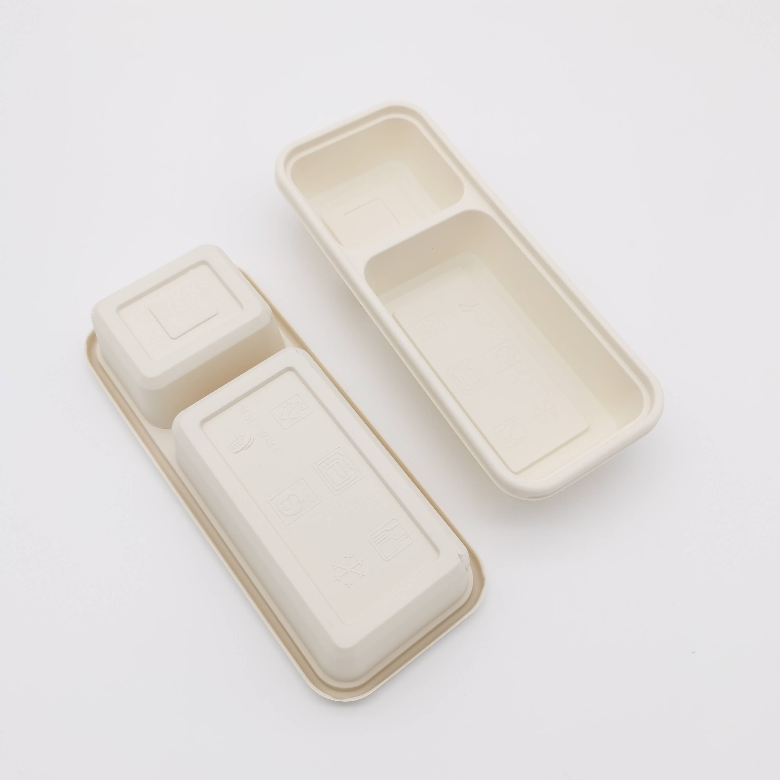 Two Compartment Corn Starch Food Container Featured Image
