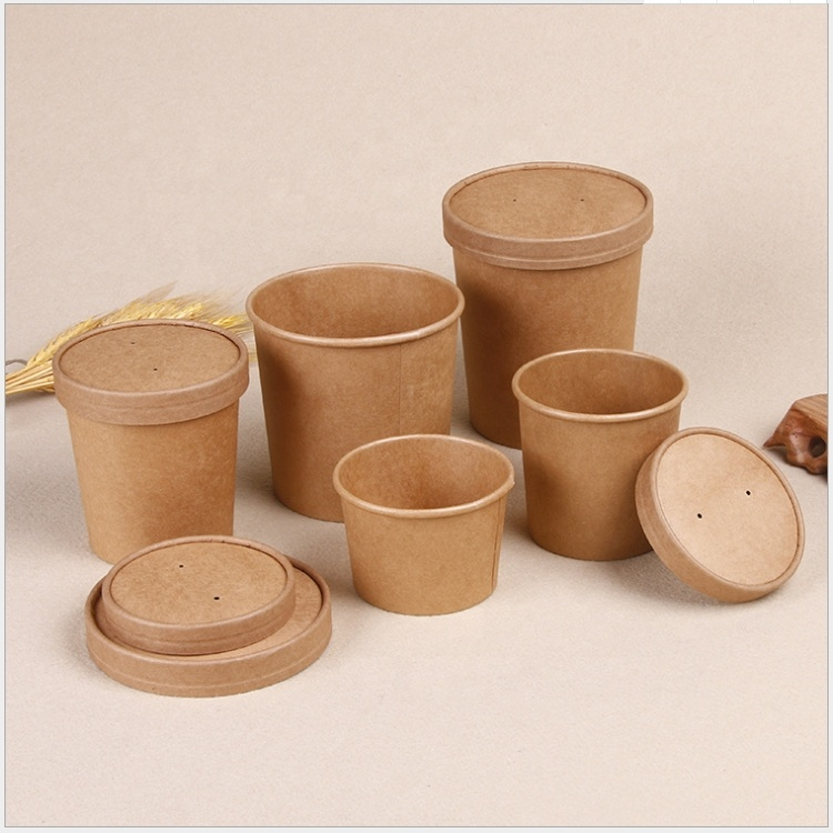 Factory wholesale Paper Jewelry Box - Disposable Craft Paper Soup Cup – CHUNKAI