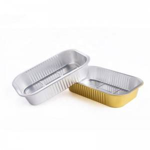 Gold Aluminum Foil Take-away Box