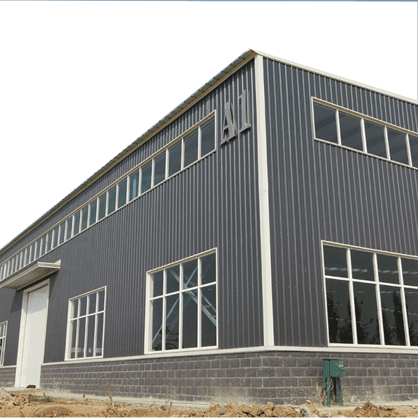 Gable Frame Metal Building Prefabricated Industrial Light Steel Structure Warehouse Featured Image
