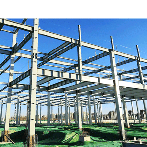 Steel structure prefabricated office apartments building