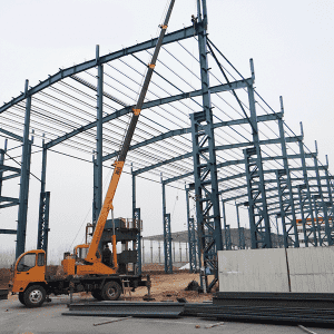 wind-resistant prefabricated steel structure warehouse