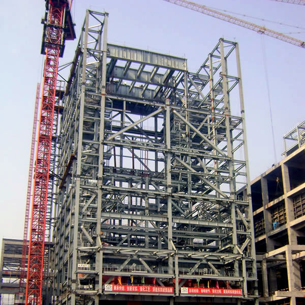 Light prefabricated high rise steel building for office